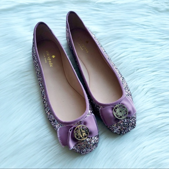 ae93c35ef767 kate spade Shoes - NEW Kate Spade Fontana Too Pink Glitter Flats 8.5